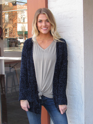 Navy Cozy Cardigan