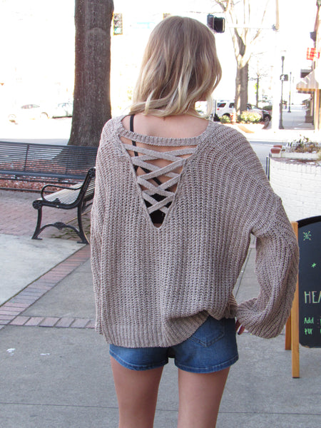 Cross Strap Sweater