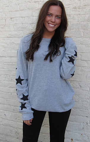 Star Sleeve Sweater