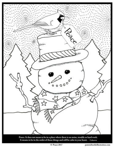 January Peace Coloring Page