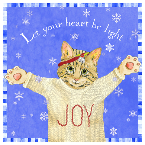 Let Your Heart Be Light Art Tile