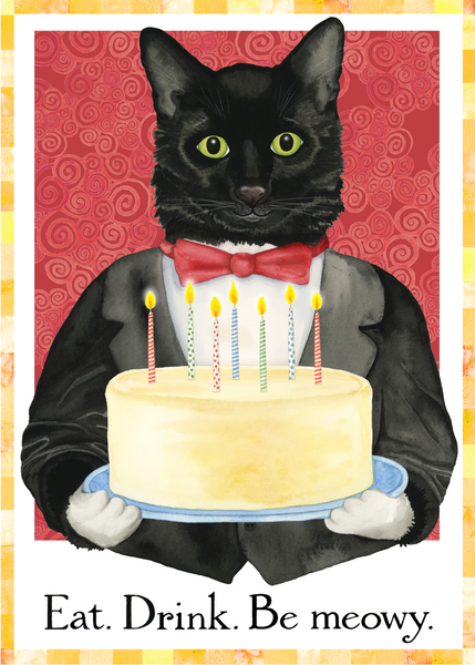 Be Meowy Birthday Card