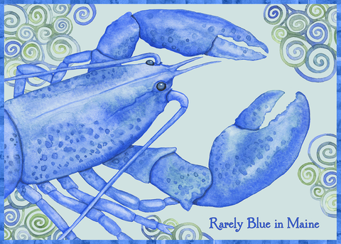 Blue Lobster Greeting Card (Blank)