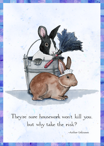 Dust Bunnies Greeting Card (Blank)