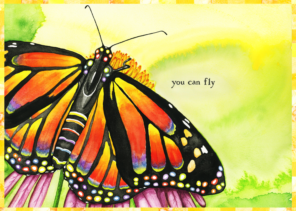 You Can Fly Monarch Butterfly Greeting Card (Blank)