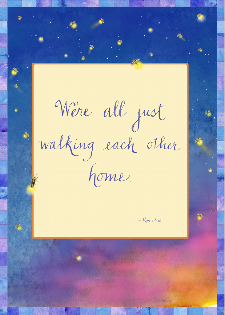 Walking Each Other Home Greeting Card (Blank)