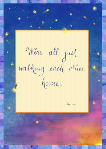 Walking Each Other Home Greeting Card