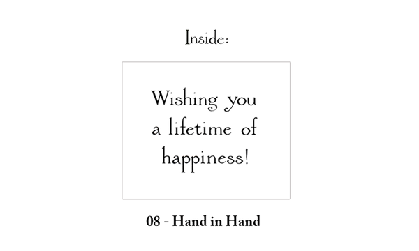 Hand In Hand Wedding Card