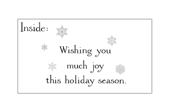 Joy Cardinal Holiday Greeting Card