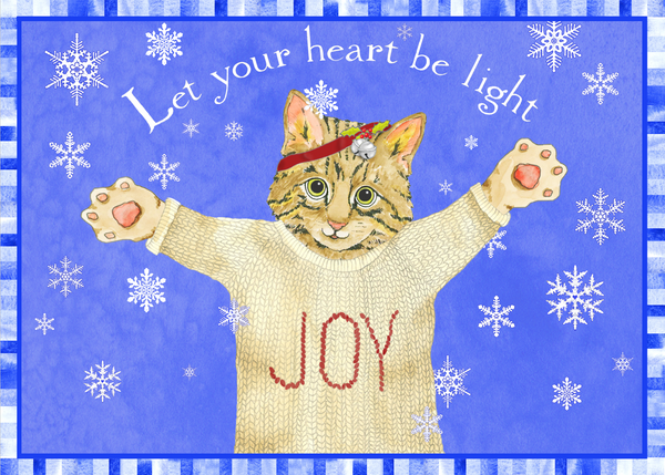 Let Your Heart Be Light Holiday Greeting Card