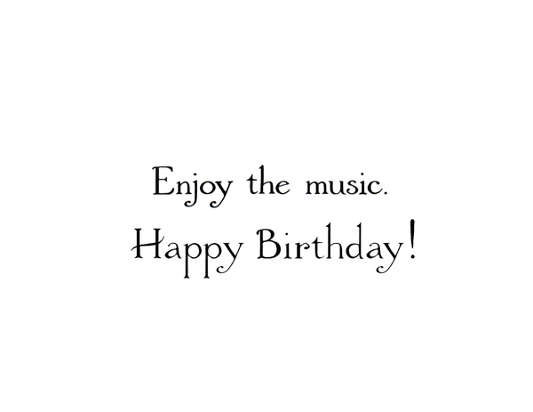 NEW! Loon Music Birthday  Card
