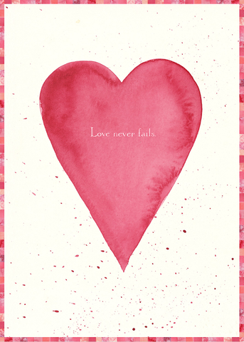 Love Never Fails Card (Blank)