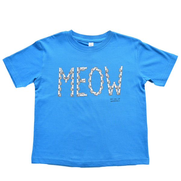 MEOW Cat Toddler Tee