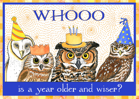 Birthday Owls Greeting Card