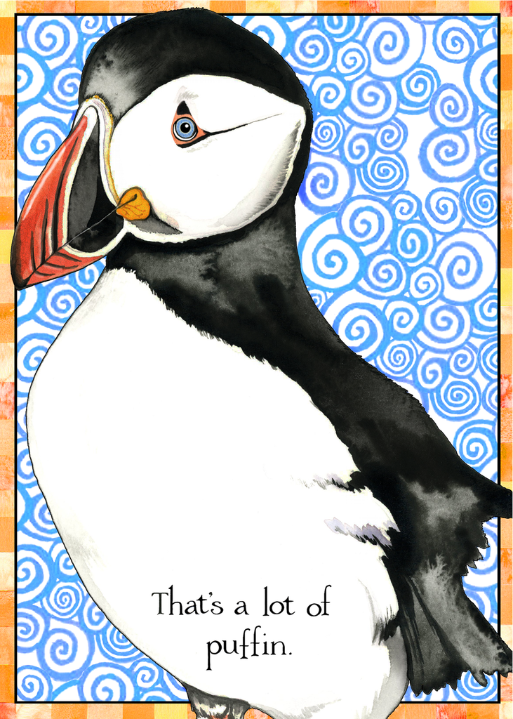 Birthday Puffin Greeting Card