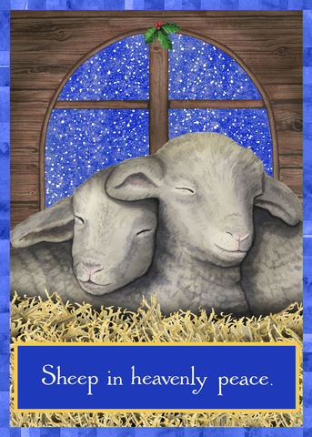 Sheep Peace Holiday Greeting Card