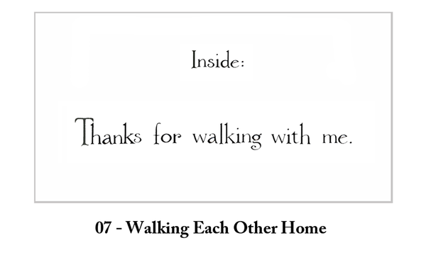 Walking Each Other Home Thank You Greeting Card