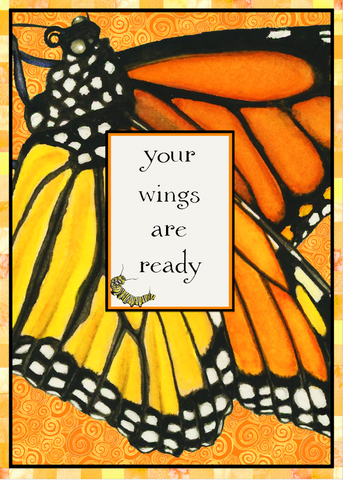 Your Wings Are Ready Monarch Graduation New Beginning Card (Set of 4)