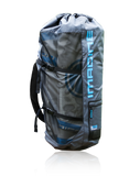 Lightweight travel backpack - fits board, pump, paddle, fin, and room for towels or other gear