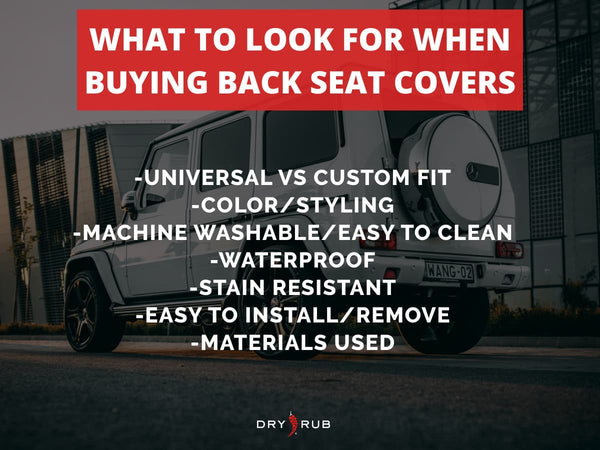 back seat covers - what to look for