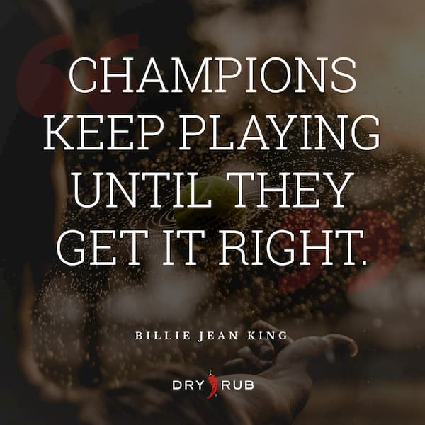 fitness quote - champions get it right