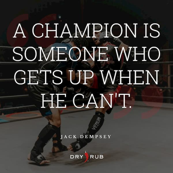 fitness quote - champion gets up