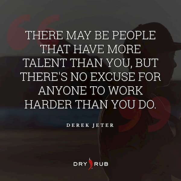 fitness quote - talent hard work
