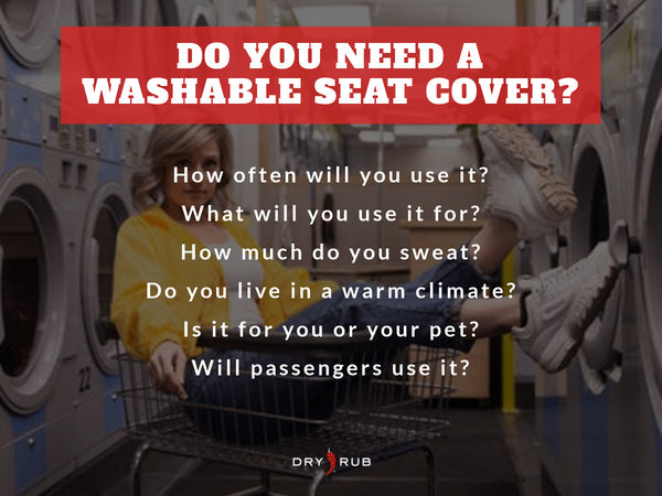 washable seat cover - buying checklist