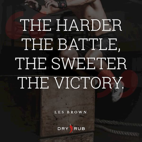 fitness quote - hard battle sweet victory