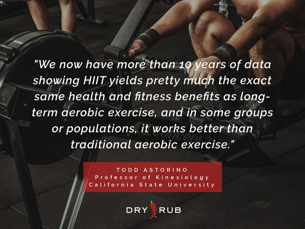 hiit workout benefits - todd astorino quote