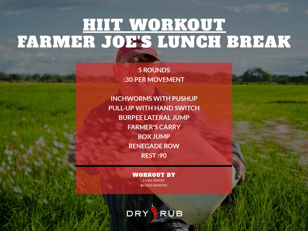 HIIT WORKOUT - FARMER JOE'S LUNCH BREAK