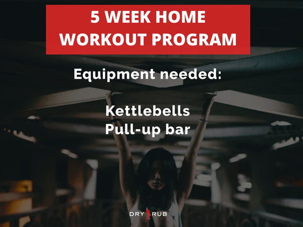 home workout - kettlebells + pull-up bar
