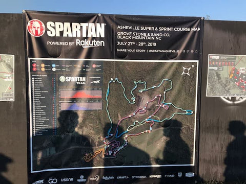 first spartan race Asheville NC - sprint map