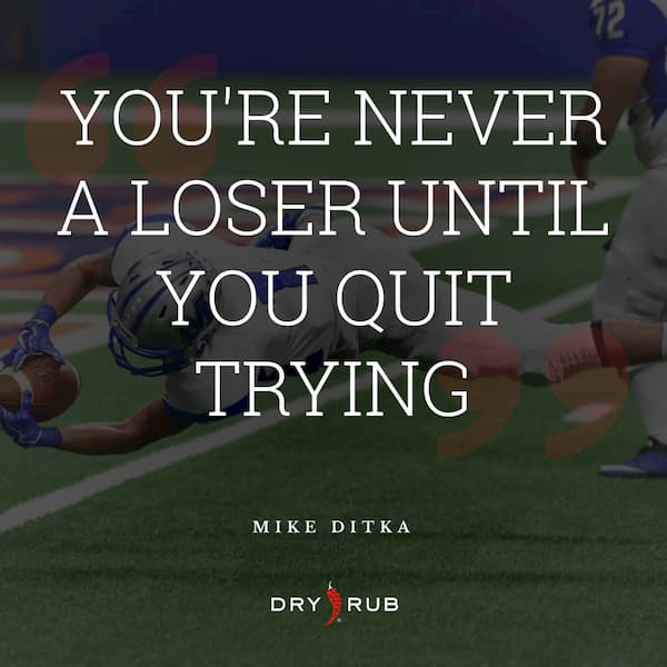 fitness quote - losers quit trying