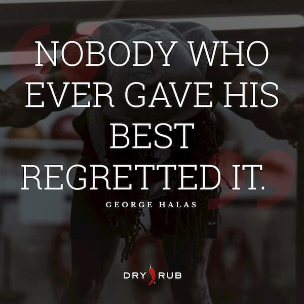 fitness quote - regretted it