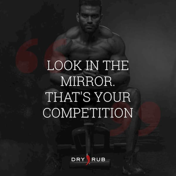 fitness quote - mirror competition