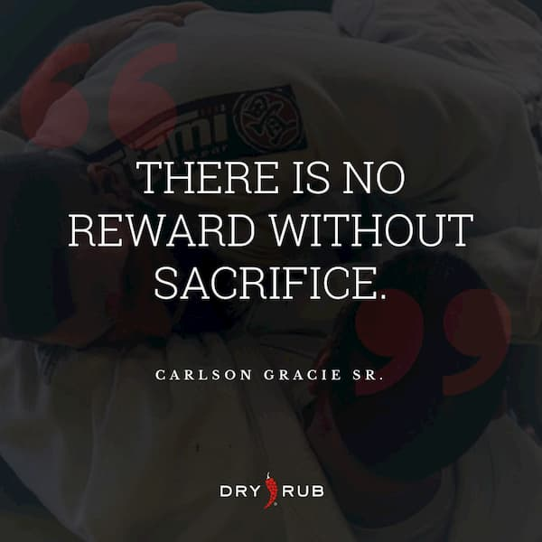 fitness quote - no reward without sacrifice