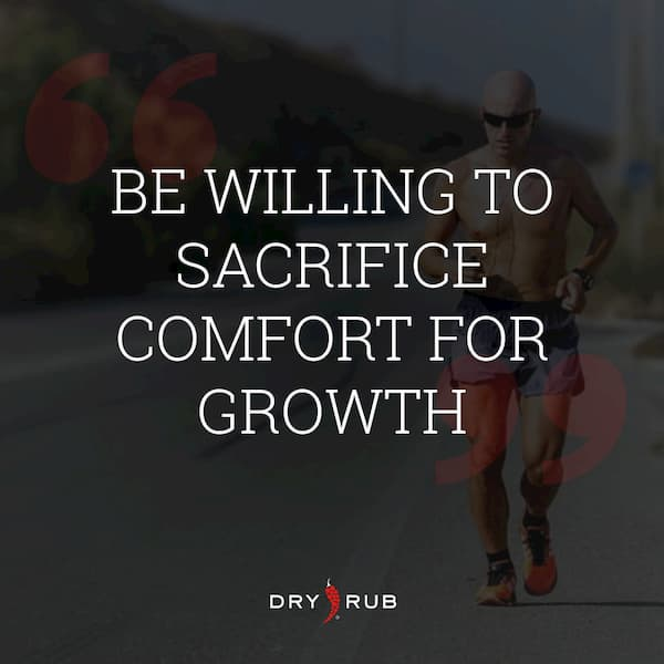 fitness quote - comfort for growth