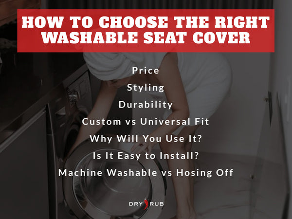 washable seat covers - how to choose