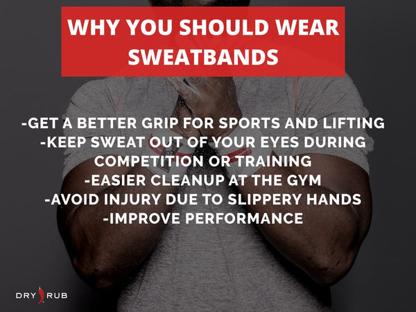 why you should wear sweatbands - chalk clap athlete