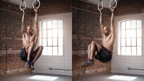 best core exercise for athletes - hanging knee raise twist