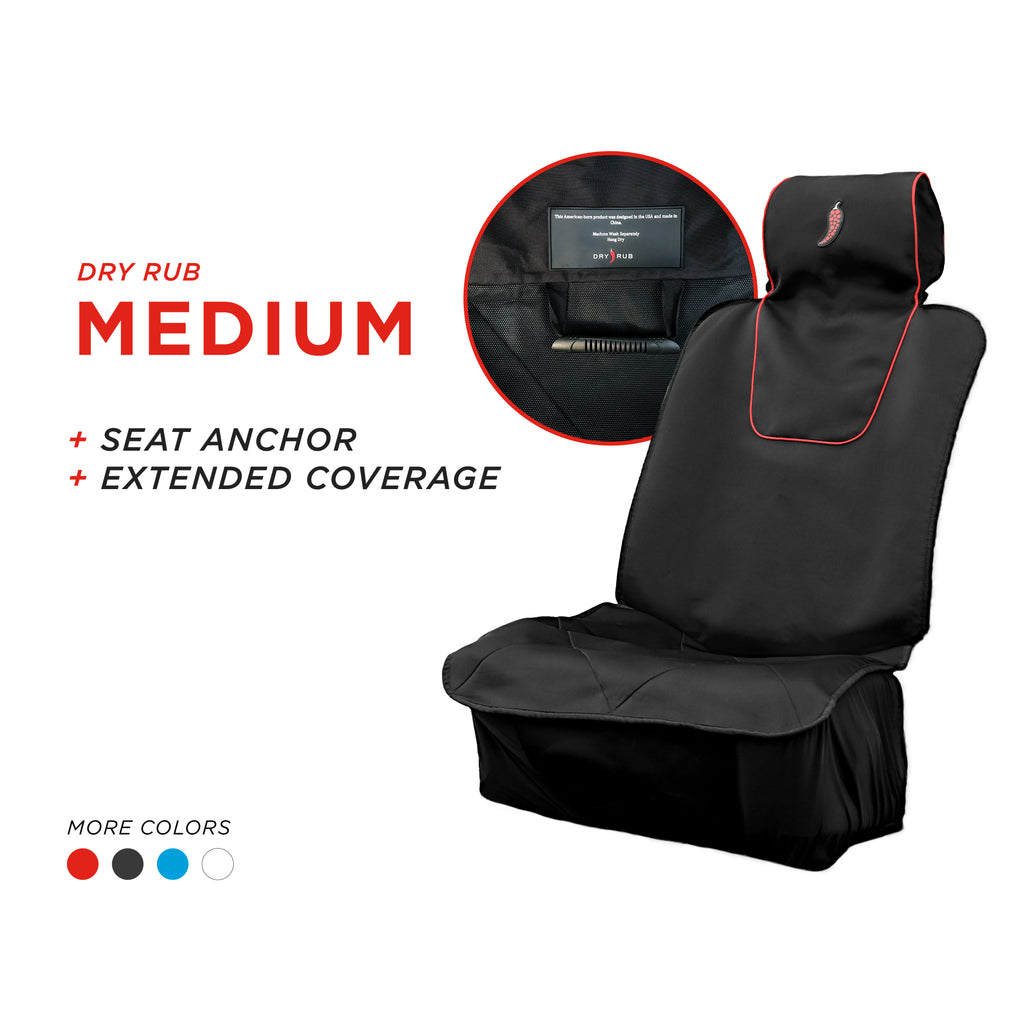 Dry Rub Medium: Car Seat Cover with Extended Coverage + Seat Anchor