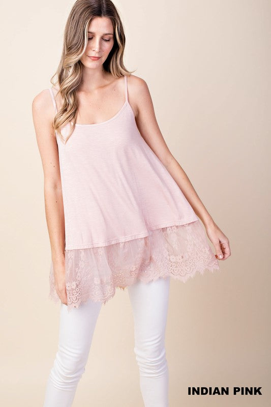 Pricilla Lace Tank - Gracie James Clothing