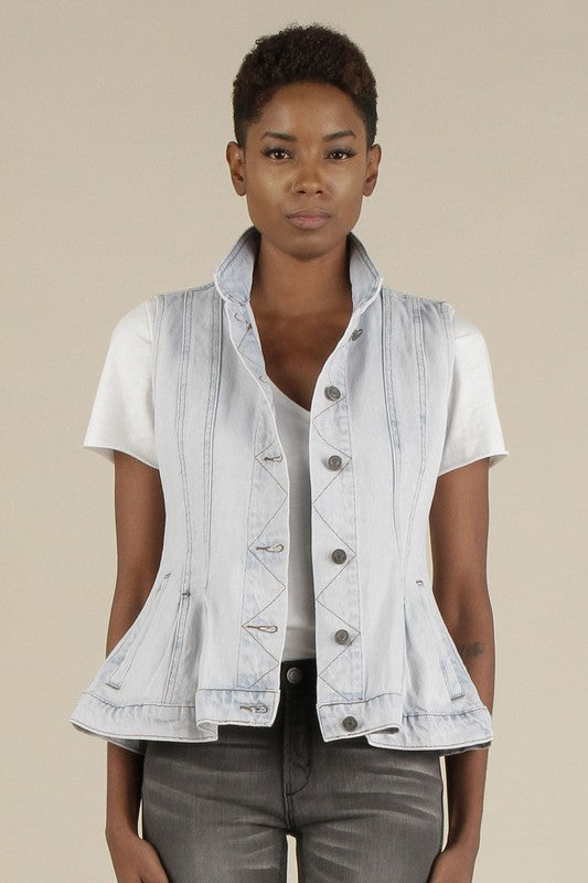 Coco Peplum Vest - Gracie James Clothing