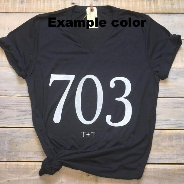 301 Area Code Tee - Grey - Gracie James Clothing