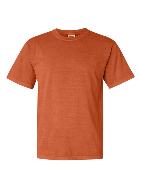 BURNT ORANGE - Garment Dyed Heavyweight Ring spun Short Sleeve Shirt - Vivid Sportswear