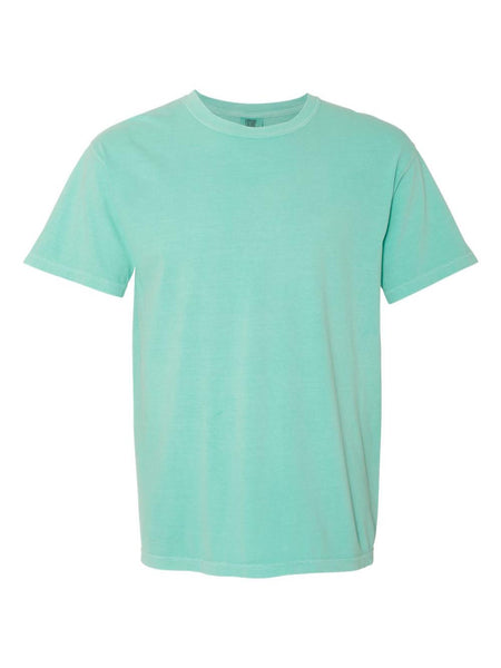 CHALKY MINT - Garment Dyed Heavyweight Ring spun Short Sleeve Shirt - Vivid Sportswear