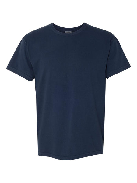TRUE NAVY - Garment Dyed Heavyweight Ring spun Short Sleeve Shirt - Vivid Sportswear