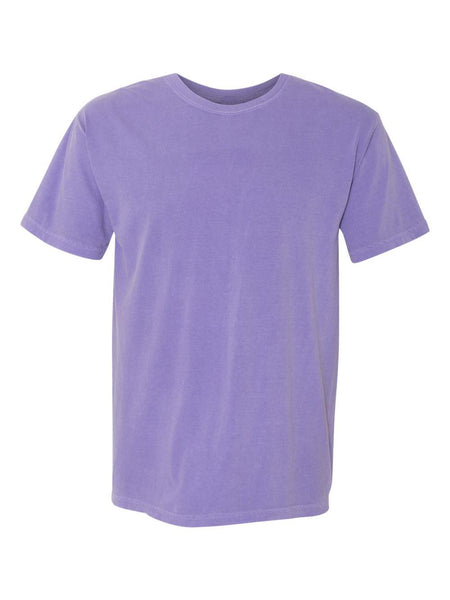 VIOLET - Garment Dyed Heavyweight Ring spun Short Sleeve Shirt - Vivid Sportswear