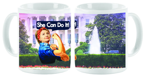 """She Can Do it"" Hillary Mug - Vivid Sportswear"